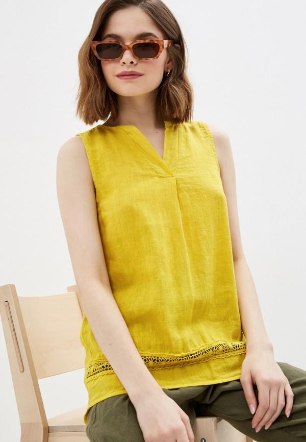 женский топ baon, желтый