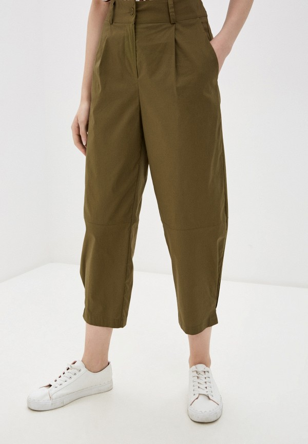женские повседневные брюки baon, хаки