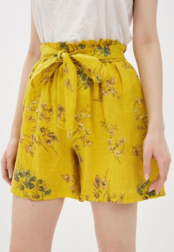 женские повседневные шорты baon, желтые