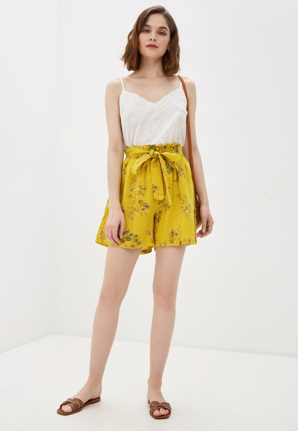Фото 2 - Женские шорты Baon желтого цвета