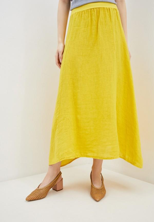 женская юбка baon, желтая