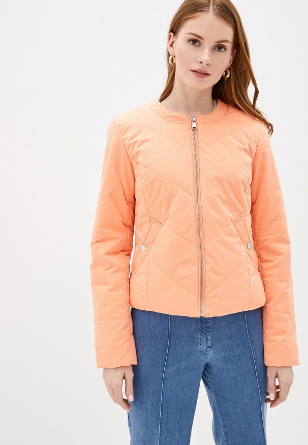 женская куртка baon, оранжевая