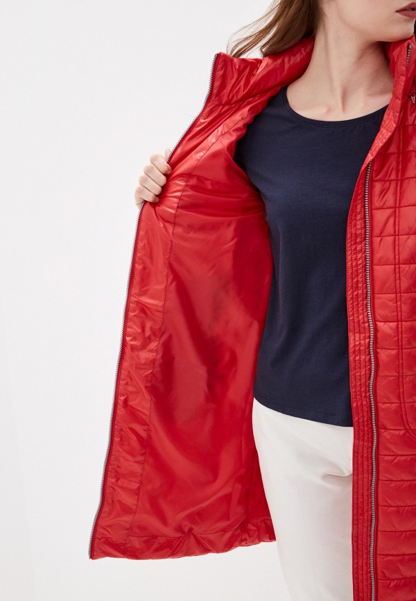 Фото 4 - Куртку утепленная Baon красного цвета
