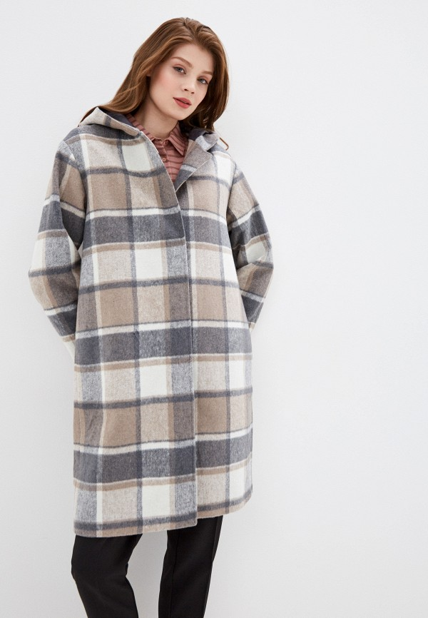 женское пальто baon, серое