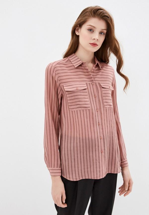 Фото 4 - Женскую блузку Baon розового цвета