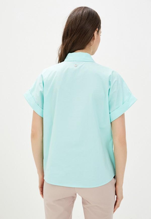 Фото 3 - Женскую рубашку Baon бирюзового цвета