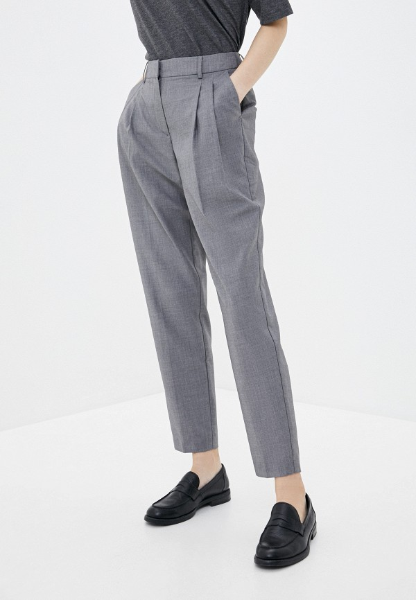 женские классические брюки baon, серые
