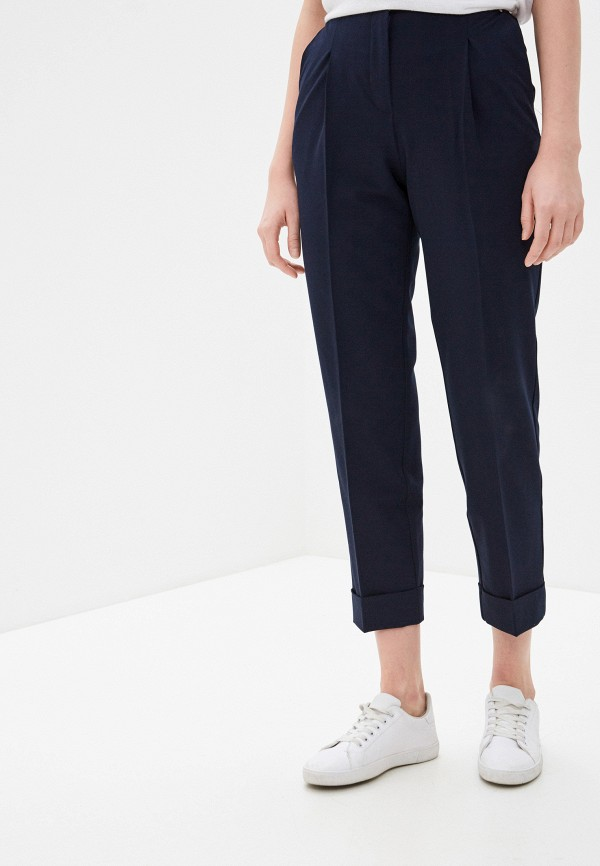 женские классические брюки baon, синие