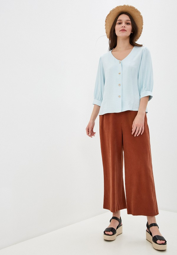 Фото 2 - Женскую блузку Baon зеленого цвета