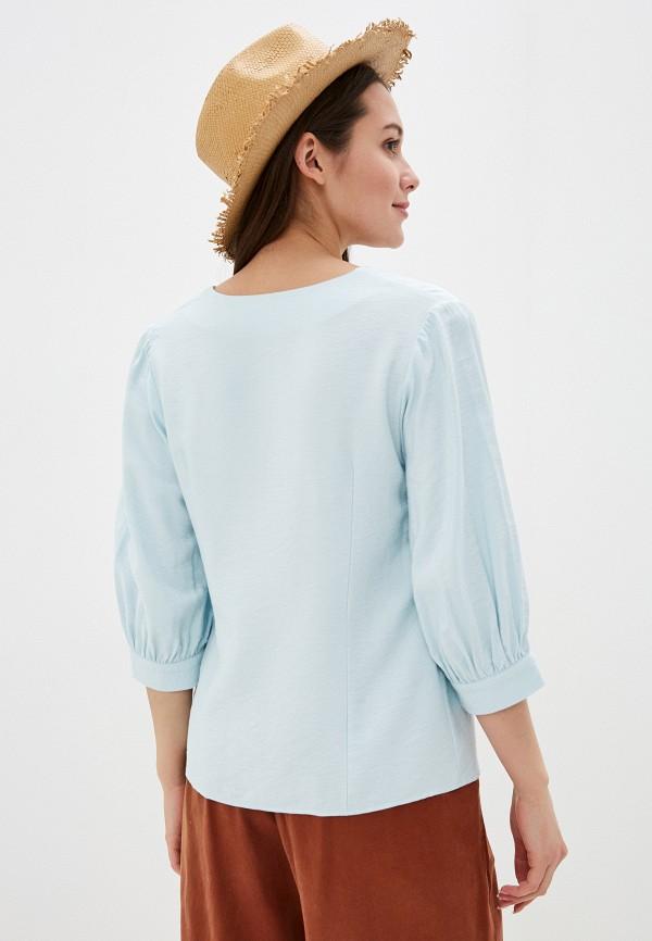 Фото 3 - Женскую блузку Baon зеленого цвета