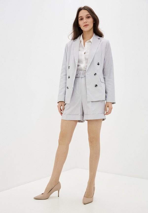 Фото 2 - Женские шорты Baon серого цвета