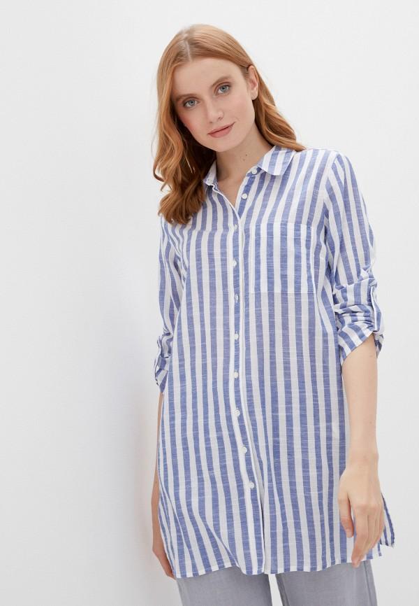 женская блузка baon, голубая