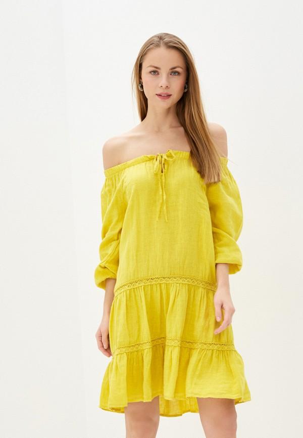 женское платье baon, желтое
