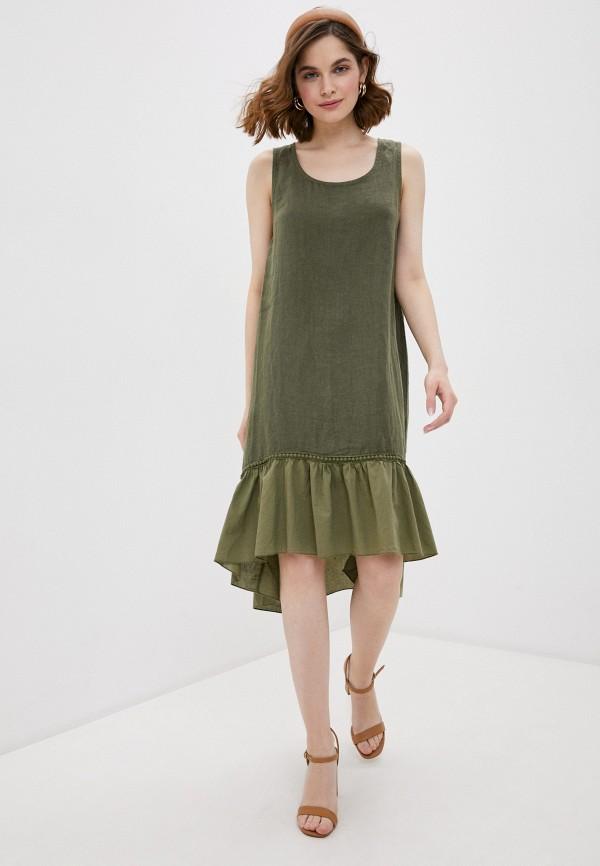 женское повседневные платье baon, хаки