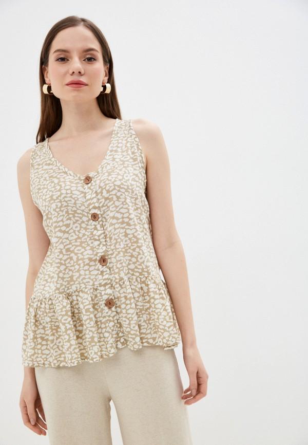 женская блузка baon, бежевая