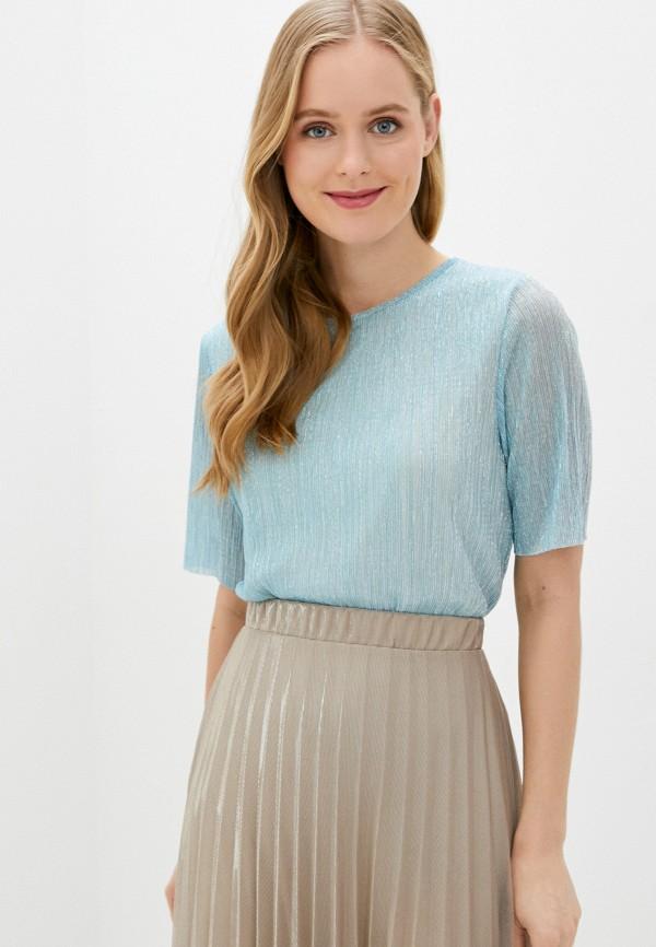 женская футболка baon, голубая