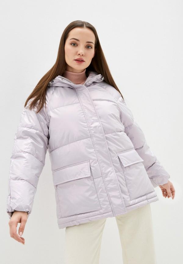 женская утепленные куртка baon, фиолетовая