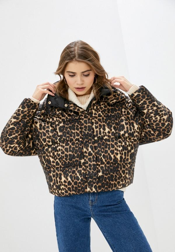 женская куртка baon, коричневая