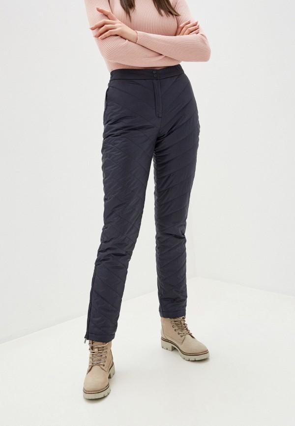 женские утепленные брюки baon, синие
