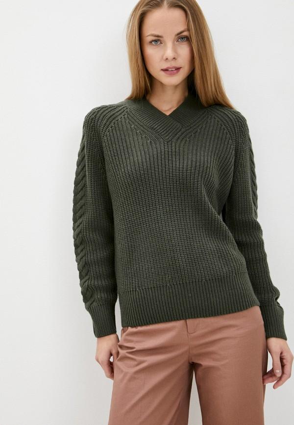 женский пуловер baon, хаки