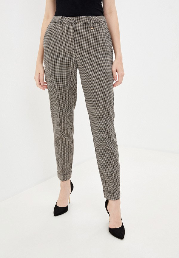 женские классические брюки baon, бежевые
