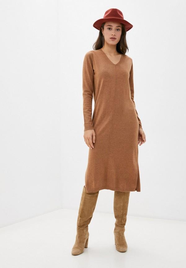 женское платье baon, коричневое