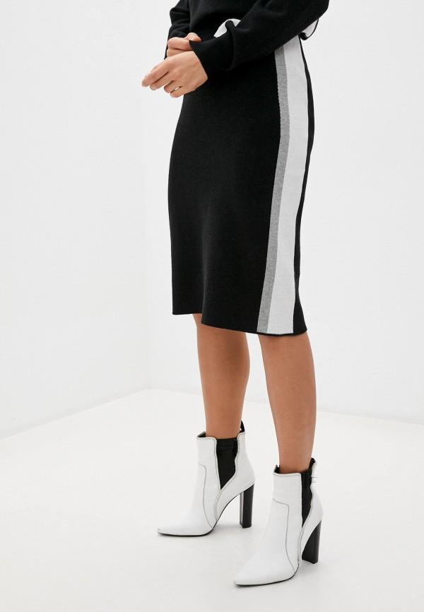 женская юбка-трапеции baon, черная