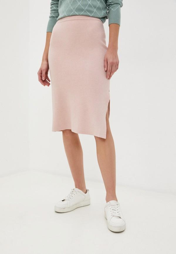 женская зауженные юбка baon, розовая