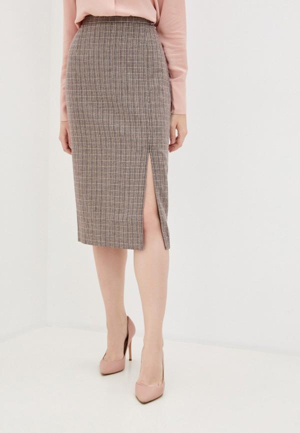 женская прямые юбка baon, коричневая