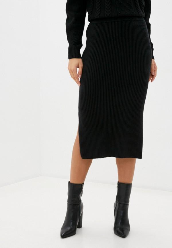 женская зауженные юбка baon, черная