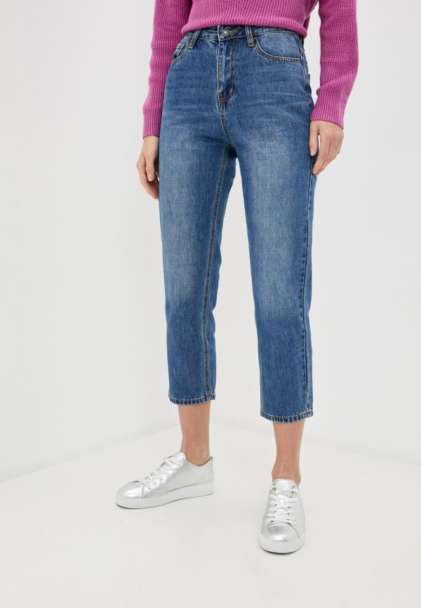 женские джинсы-мом baon, синие