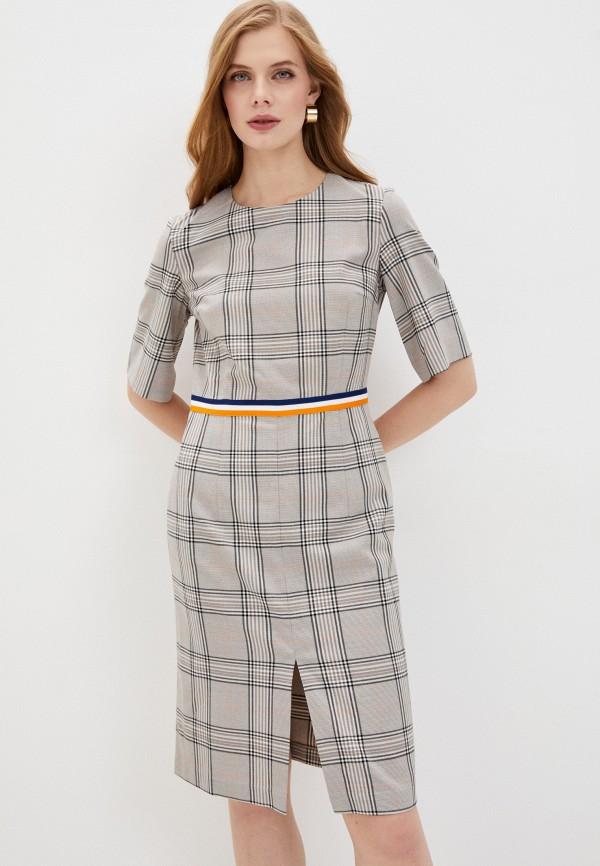 женское платье-футляр baon, серое