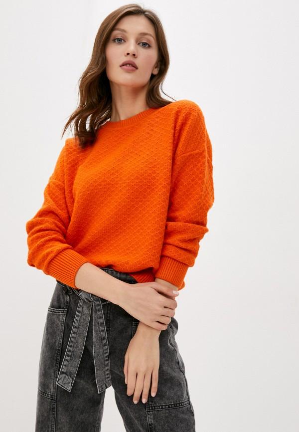 женский джемпер baon, оранжевый