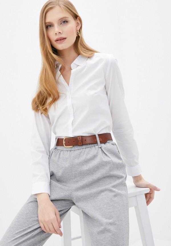 женская рубашка с длинным рукавом baon, белая