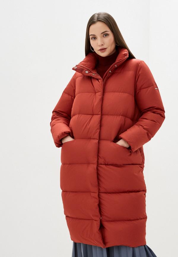 женский пуховик baon, красный