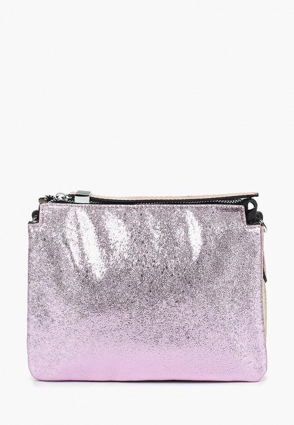 женская сумка через плечо baggini, розовая