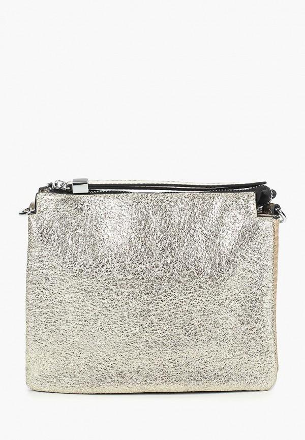 женская сумка через плечо baggini, золотая