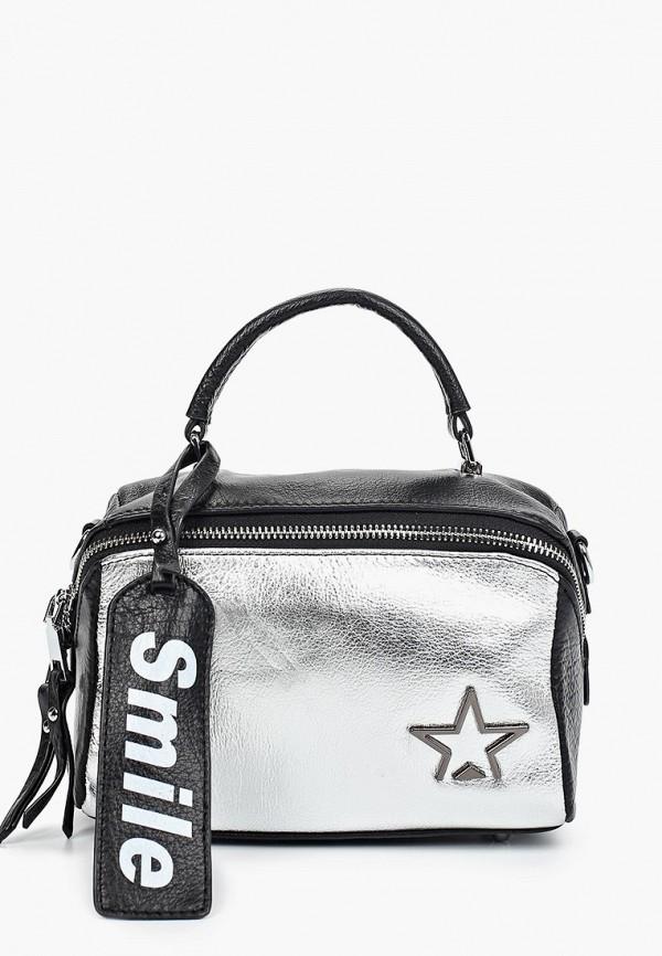 женский рюкзак baggini, серебряный