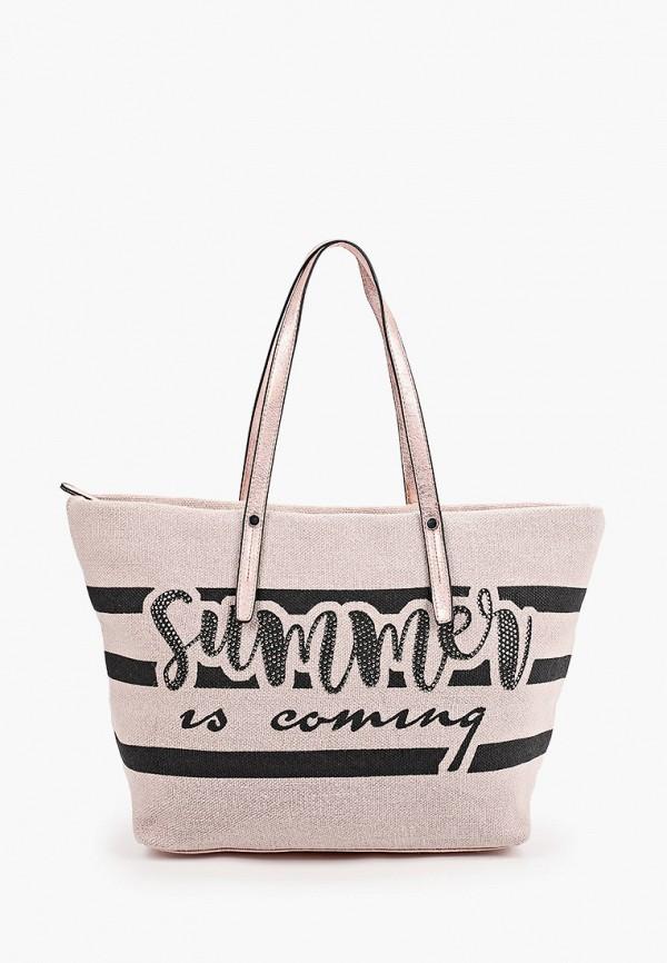 женская сумка-шоперы baggini, розовая