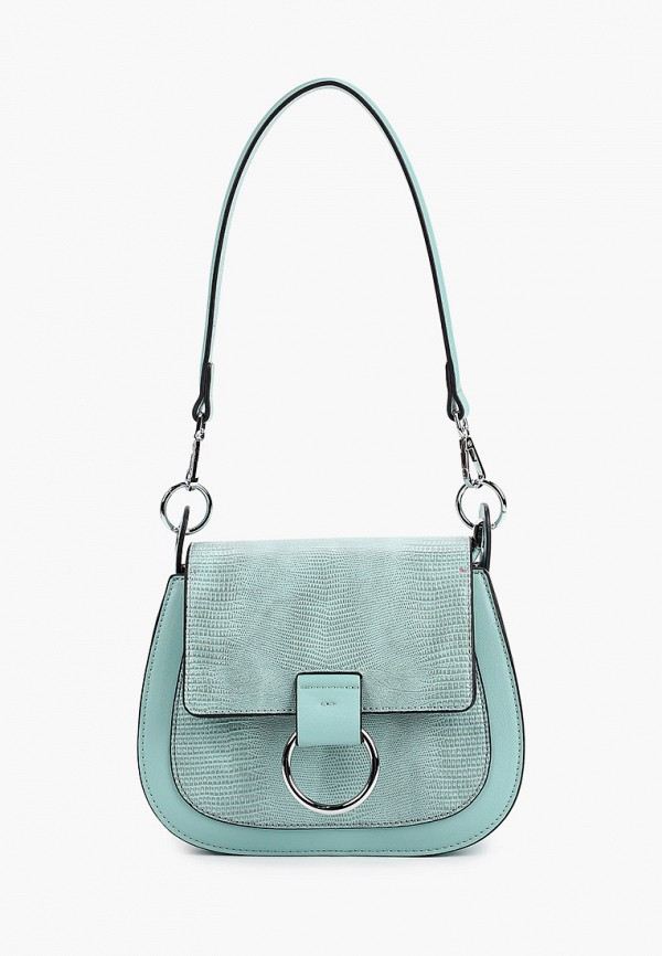 женская сумка через плечо baggini, голубая