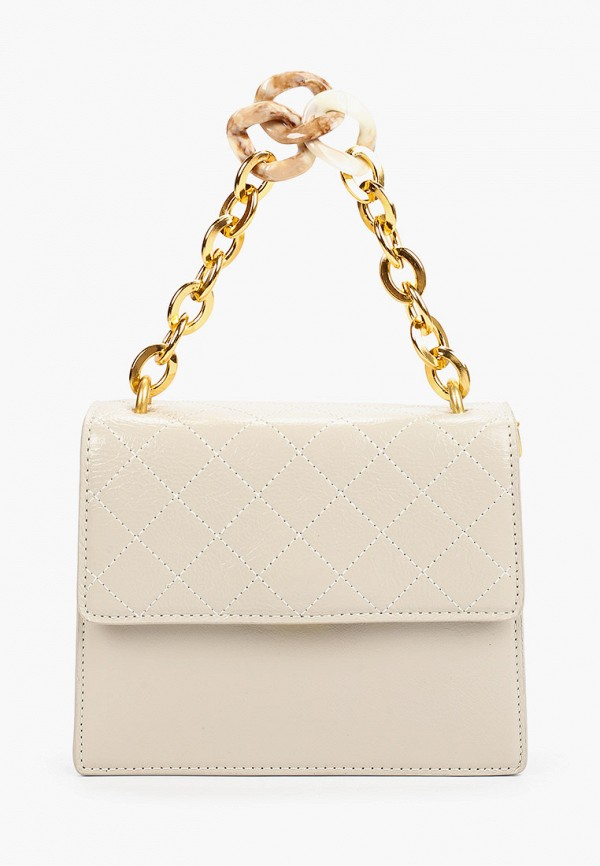 женская сумка через плечо baggini, белая