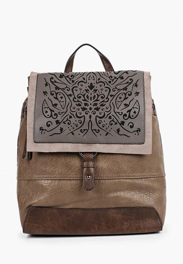 женский рюкзак baggini, коричневый