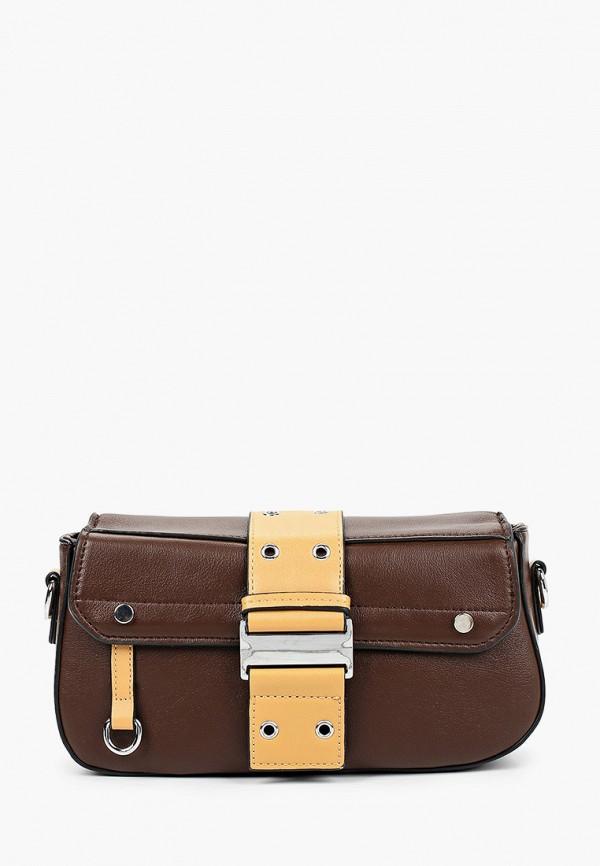 женская сумка baggini, коричневая