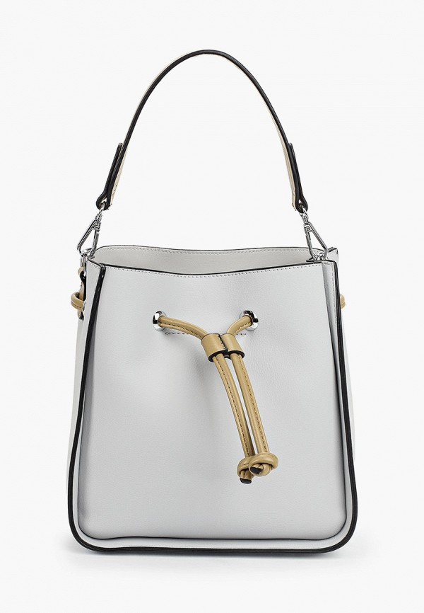 женская сумка с ручками baggini, серая