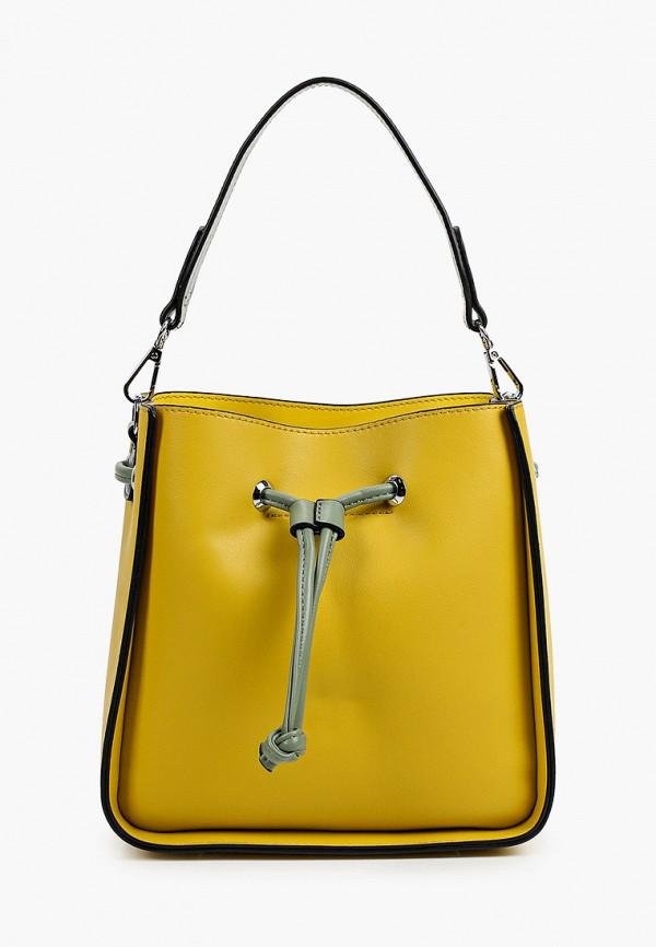 женская сумка-ведро baggini, желтая