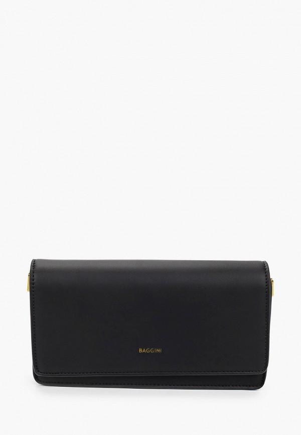 женская сумка с ручками baggini, черная