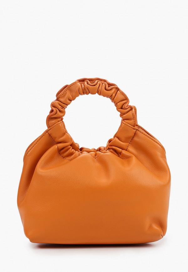 женская сумка с ручками baggini, оранжевая