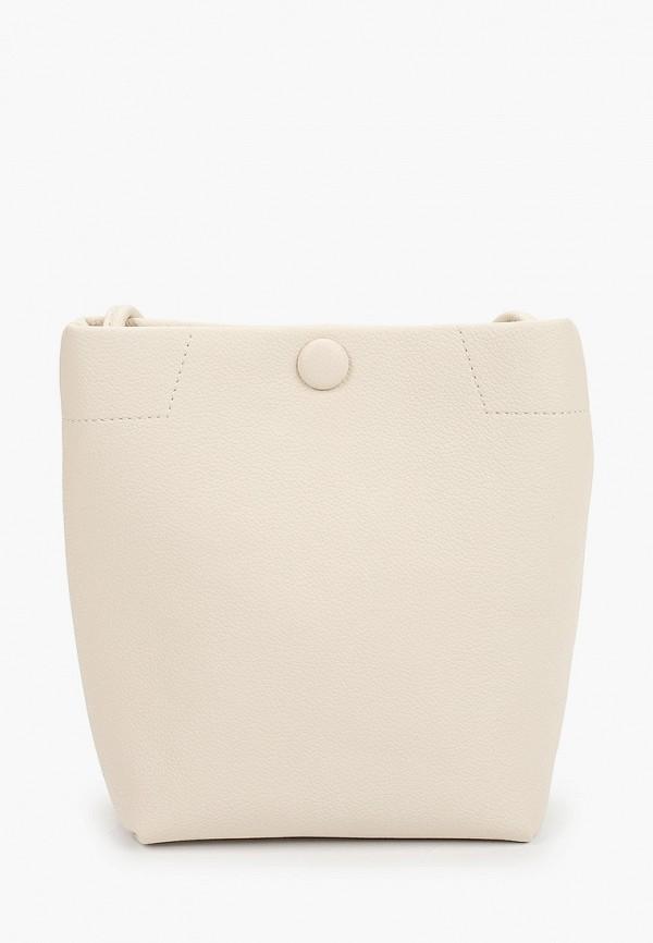 женская сумка через плечо baggini, бежевая