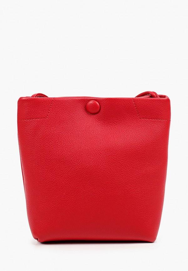женская сумка через плечо baggini, красная