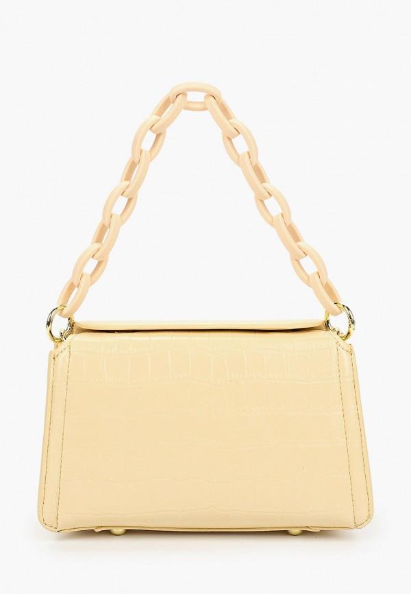 женская сумка с ручками baggini, желтая